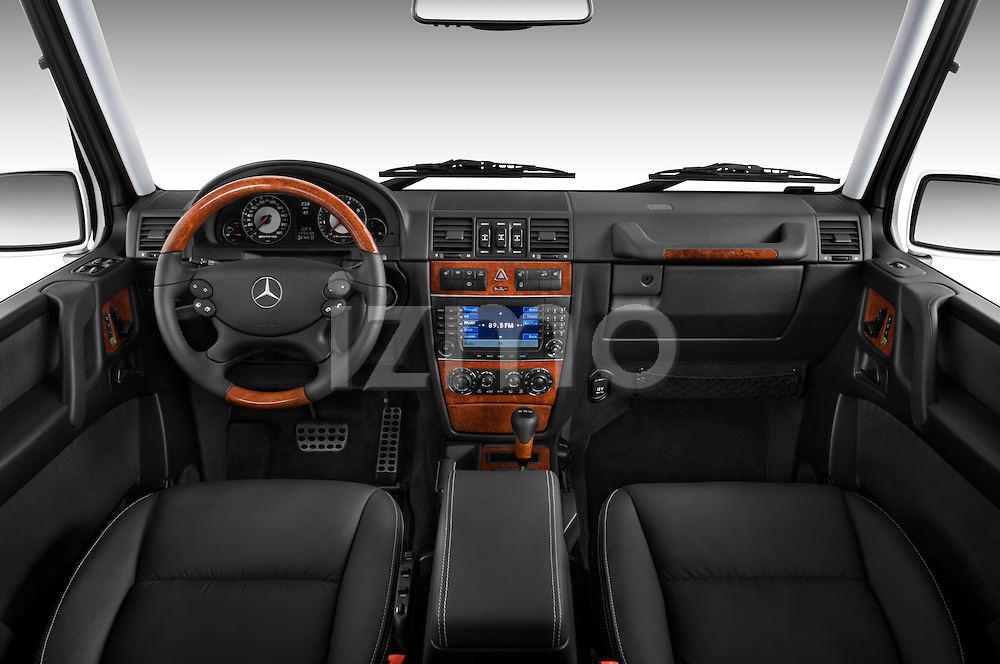 Straight dashboard view of a 2008 Mercedes Benz G55 AMG.