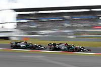 11th October 2020, Nuerburgring, Nuerburg, Germany; FIA Formula 1 Eifel Grand Prix, Race Day;  44 Lewis Hamilton GBR, Mercedes-AMG Petronas Formula One Team ahead of team mate 77 Valtteri Bottas FIN, Mercedes-AMG Petronas Formula One Team