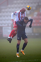 Scott Cuthbert of Stevenage during Stevenage vs Swansea City, Emirates FA Cup Football at the Lamex Stadium on 9th January 2021