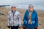 Ita Carmody and Bridie O'Connor from Listowel enjoying a stroll on Ballybunion beach on Sunday.