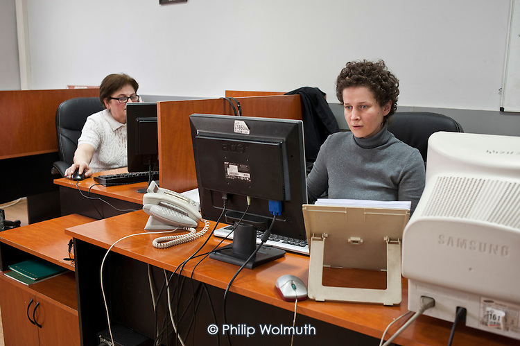 Call centre at the Tbilisi headquarters of Telasi, one of Gerogia's three electricty distribution companies.