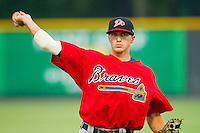Shortstop Nick Ahmed #22 of the Danville Braves warms up in the outfield prior to the game against the Burlington Royals at Burlington Athletic Park on August 12, 2011 in Burlington, North Carolina.  The Braves defeated the Royals 8-3.   (Brian Westerholt / Four Seam Images)