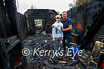 Pat O'Neill and his son Finn at their home in Killarney on Tuesday evening.