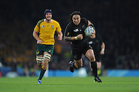 Ma'a Nonu of New Zealand in full flight during the Rugby World Cup Final between New Zealand and Australia - 31/10/2015 - Twickenham Stadium, London<br /> Mandatory Credit: Rob Munro/Stewart Communications