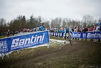 Eli Iserbyt (BEL)<br /> <br /> Men Juniors Race<br /> <br /> 2015 UCI World Championships Cyclocross <br /> Tabor, Czech Republic