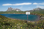 Austria, Vorarlberg, Warth: Spitziger Stein Lake, small reservoir at Steffisalpe hiking-region and Widderstein mountain 2.533 m