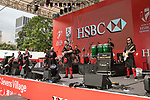 The Red Hot Chili Pipers' performs at the HSBC Sevens Village during the HSBC Hong Kong Rugby Sevens 2017 on 08 April 2017 in Hong Kong Stadium, Hong Kong, China. Photo by King Chung Fung / Power Sport Images
