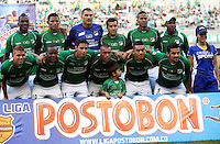 ESTADIO MONUMENTAL DE PALMASECA  -COLOMBIA- 16-08-2013.Formacion del Deportivo Cali que enfrento al Cucuta Deportivo y al cual vencio 2 goles por uno  , partido correspondiente a la cuarta fecha de La  Liga Postobon segundo semestre disputado en el estadio  Monumental de Palmaseca /Formation of Deportivo Cali Deportivo Cucuta juice with and which overcame two goals by one game in the fourth round of La Liga Postobon second half played at the Monumental stadium Palmaseca. Photo: VizzorImage /Juan Carlos Quintero  / Stringer