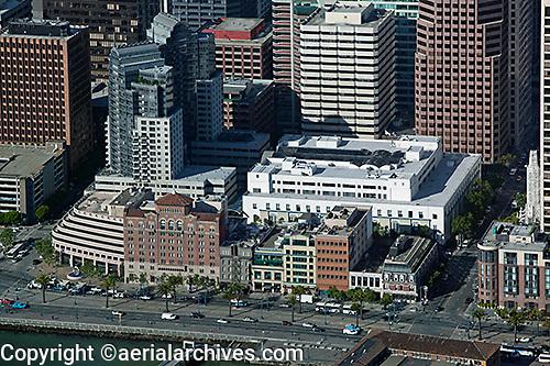 aerial photograph Rincon Plaza Embarcadero San Francisco financial district