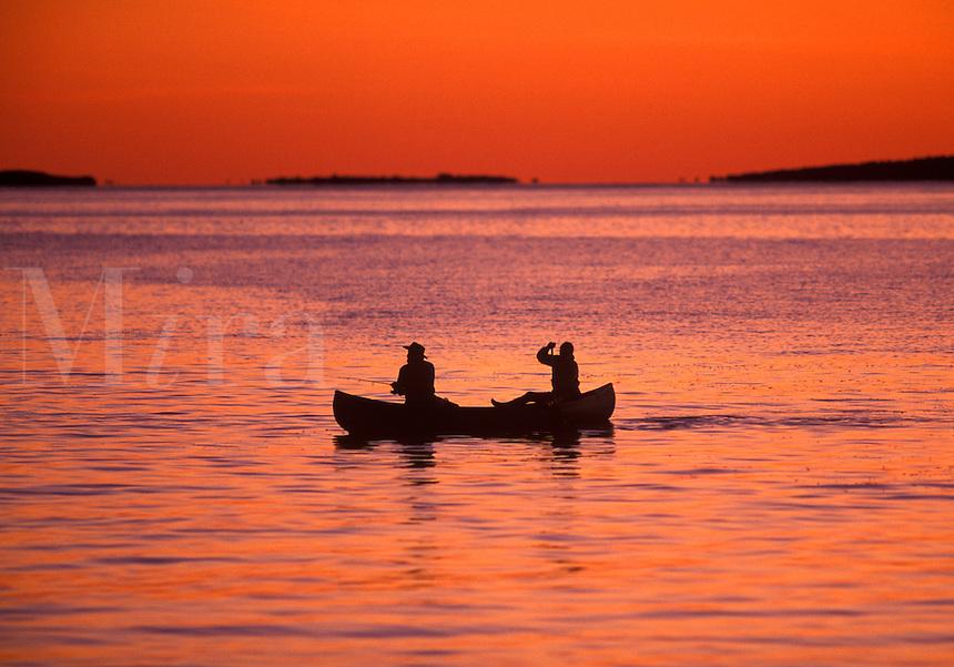 Sunset canoeing, Martha's Vineyard, Caope Cod<br />