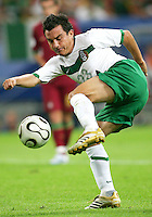 Luis Perez (23) of Mexico hooks the ball around. Portugal defeated Mexico 2-1 in their FIFA World Cup Group D match at FIFA World Cup Stadium, Gelsenkirchen, Germany, June 21, 2006.