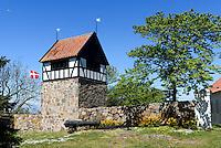 Glockenturm auf  Christiansø, Ertholmene (Erbseninseln) bei Bornholm, Dänemark, Europa<br /> Belltower on Christiansø, Ertholmene, Isle of Bornholm Denmark