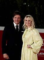 """Danish director Thomas Vinterberg poses with his wife danish actress Helene Reingaard Neumann on the red carpet for the screening of the film """"Druk"""" during the 15th Rome Film Festival (Festa del Cinema di Roma) at the Auditorium Parco della Musica in Rome on October 20, 2020.<br /> UPDATE IMAGES PRESS/Isabella Bonotto"""