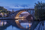 China, Jiansu, Suzhou, Midu Bridge at Dawn