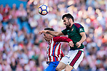 Juan Rafael Fuentes Hernandez (R) fights for the ball with Fernando Torres of Atletico de Madrid (L) during the La Liga match between Atletico de Madrid vs Osasuna at Estadio Vicente Calderon on 15 April 2017 in Madrid, Spain. Photo by Diego Gonzalez Souto / Power Sport Images