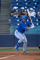 Dunedin Blue Jays Zach Britton (6) bats during a game against the Tampa Tarpons on May 7, 2021 at George M. Steinbrenner Field in Tampa, Florida.  (Mike Janes/Four Seam Images)
