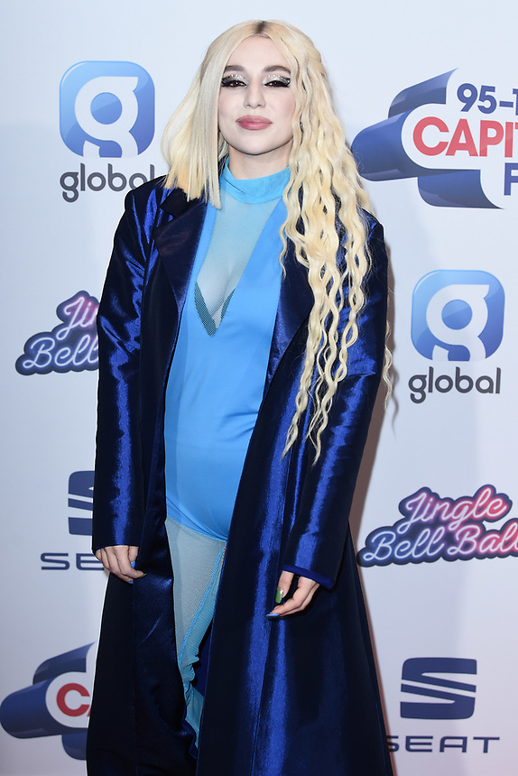 Ava Max<br /> at the 2019 Jingle Bell Ball, O2 Arena, London.<br /> <br /> ©Ash Knotek  D3544 07/12/2019