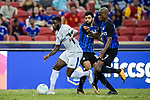 Chelsea Defender Antonio Rudiger (L) fights for the ball with FC Internazionale players Geoffrey Kondogbia (R) and Gabriel Barbosa (C) during the International Champions Cup 2017 match between FC Internazionale and Chelsea FC on July 29, 2017 in Singapore. Photo by Weixiang Lim / Power Sport Images