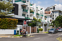 Singapore  Joo Chiat District, Middle-class Residential Neighborhood Housing.