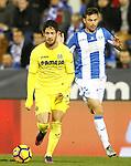 CD Leganes' Alberto Martin (r) and Villarreal CF's Jaume Costa during La Liga match. December 3,2016. (ALTERPHOTOS/Acero)