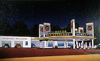 Filling Stations:  Cities Service Station,  Shreveport LA, c. 1936.  1939 view. Demolished.