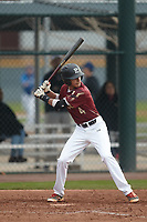 Nicholas Martinez (4) of Pembroke Pines Charter HS High School in Pembroke Pines, Florida during the Under Armour All-American Pre-Season Tournament presented by Baseball Factory on January 15, 2017 at Sloan Park in Mesa, Arizona.  (Kevin C. Cox/MJP/Four Seam Images)