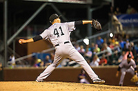 Jordan Shipers (41) of the Jackson Generals pitches during a game between the Jackson Generals and Chattanooga Lookouts at AT&T Field on May 8, 2015 in Chattanooga, Tennessee. (Brace Hemmelgarn/Four Seam Images)