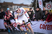 World Cup Leader Toon Aerts (BEL/Telenet Baloise Lions) cornering <br /> <br /> Men Elite Race<br /> UCI Cyclocross Worldcup – Hoogerheide (Netherlands)<br /> <br /> ©kramon