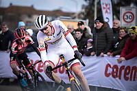 World Cup Leader Toon Aerts (BEL/Telenet Baloise Lions) cornering <br /> <br /> Men Elite Race<br /> UCI Cyclocross Worldcup – Hoogerheide (Netherlands)<br /> <br /> ©kramon