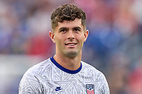 5th September 2021; Nashville, TN, USA;  United States forward Christian Pulisic in warmups during a CONCACAF World Cup qualifying match between the United States and Canada on September 5, 2021 at Nissan Stadium in Nashville, TN.