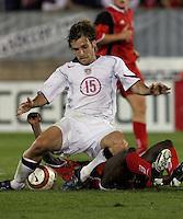Bobby Convey vs Trinidad & Tobago.World Cup qualifyer USA vs Trinidad & Tobago at Rentschler Field in Hartford, Conn.