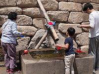 Brunnen, buddhistischer Beomosa Tempel bei Busan, Gyeongsangnam-do, Südkorea, Asien<br /> well, , buddhist temple Beomosa near Busan,  province Gyeongsangnam-do, South Korea, Asia