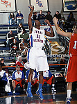 Texas-Arlington Mavericks guard/forward LaMarcus Reed III (31) looks for a rebound in the game between the UTA Mavericks and the Houston Baptist Huskies held at the University of Texas in Arlington's Texas Hall in Arlington, Texas. UTA defeats Houston Baptist 72 to 57