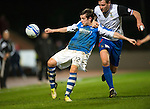 St Johnstone v Inverness Caley Thistle..29.12.12      SPL.Peter Pawlett battles with Gary Warren.Picture by Graeme Hart..Copyright Perthshire Picture Agency.Tel: 01738 623350  Mobile: 07990 594431