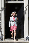 © Joel Goodman - 07973 332324 . 11/05/2015 . London , UK . LIZ TRUSS leaves 10 Downing Street this afternoon (11th May 2015) . Photo credit : Joel Goodman