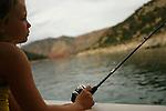 Fishing at Flaming Gorge Reservoir.