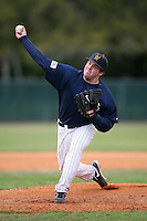February 22, 2009:  Pitcher Andy Podolinski (17) of West Virginia University during the Big East-Big Ten Challenge at Naimoli Complex in St. Petersburg, FL.  Photo by:  Mike Janes/Four Seam Images