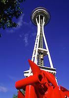 The Space Needle Center. Seattle, Washington.
