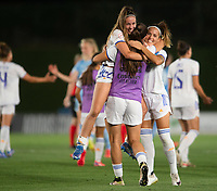 31st August 2021; Estadio Afredo Di Stefano, Madrid, Spain; Women's Champions League, Real Madrid CF versus Manchester City Football Club; Athenea and Zorzona celebrating after the match (Real Madrid)