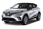 2020 Renault Captur Initiale Paris 5 Door SUV angular front stock photos of front three quarter view