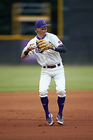Western Carolina Catamounts third baseman Will Prater (5) on defense against the St. John's Red Storm at Childress Field on March 13, 2021 in Cullowhee, North Carolina. (Brian Westerholt/Four Seam Images)