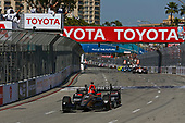 2017 Verizon IndyCar Series<br /> Toyota Grand Prix of Long Beach<br /> Streets of Long Beach, CA USA<br /> Sunday 9 April 2017<br /> James Hinchcliffe takes the checkered flag<br /> World Copyright: Phillip Abbott/LAT Images<br /> ref: Digital Image lat_abbott_lbgp_0417_14968