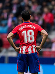 Diego Costa of Atletico de Madrid reacts during the La Liga 2017-18 match between Atletico de Madrid and Getafe CF at Wanda Metropolitano on January 06 2018 in Madrid, Spain. Photo by Diego Gonzalez / Power Sport Images