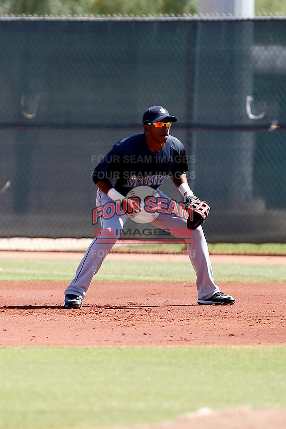 Mario Martinez - Seattle Mariners 2009 Instructional League. .Photo by:  Bill Mitchell/Four Seam Images..