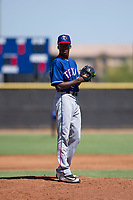 Texas Rangers pitcher Reiver Sanmartin (70) prepares to deliver a pitch to the plate during an Instructional League game against the San Diego Padres on September 20, 2017 at Peoria Sports Complex in Peoria, Arizona. (Zachary Lucy/Four Seam Images)