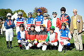 International amateur riders gather for a photo of at Great Meadow.
