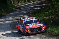23rd April 2021; Zagreb, Croatia; WRC Rally of Croatia, stages 1-8;  Ott Tanak - Hyundai I20 WRC