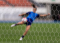 TOKYO, JAPAN - JULY 20: Kelley O'Hara #5 of the USWNT takes a shot during a training session at the practice fields on July 20, 2021 in Tokyo, Japan.