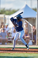 Edinson Renteria Jr during the WWBA World Championship at the Roger Dean Complex on October 19, 2018 in Jupiter, Florida.  Edinson Renteria Jr is a third baseman from Miramar, Florida who attends Charles W. Flanagan High School.  (Mike Janes/Four Seam Images)