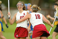 STANFORD, CA - MARCH 26: Claire Calzonetti of the Stanford Cardinal during Stanford's 9-8 (OT) win over the Hofstra Pride on March 26, 2004 at Maloney Field in Stanford, California.